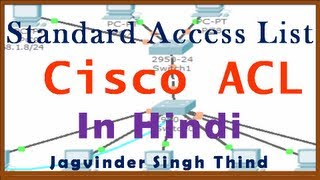 Standard Access List ACL for Cisco CCNA in Hindi - Part 1