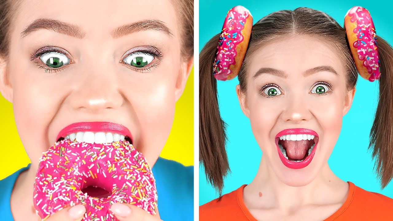 FUNNY WAYS TO SNEAK CANDIES FROM YOUR PARENTS || Crazy Snacks And Food Hacks by 123 GO! FOOD