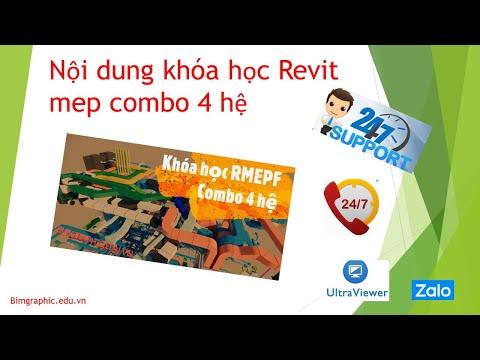 Nội dung khóa học Revit mep Combo 4 hệ -  cầm tay chỉ việc
