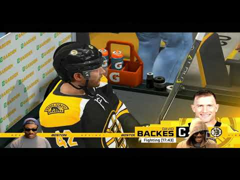 NHL 20 - Boston Bruins Vs Chicago Blackhawks - TV Style  Broadcast Camera - 1080p