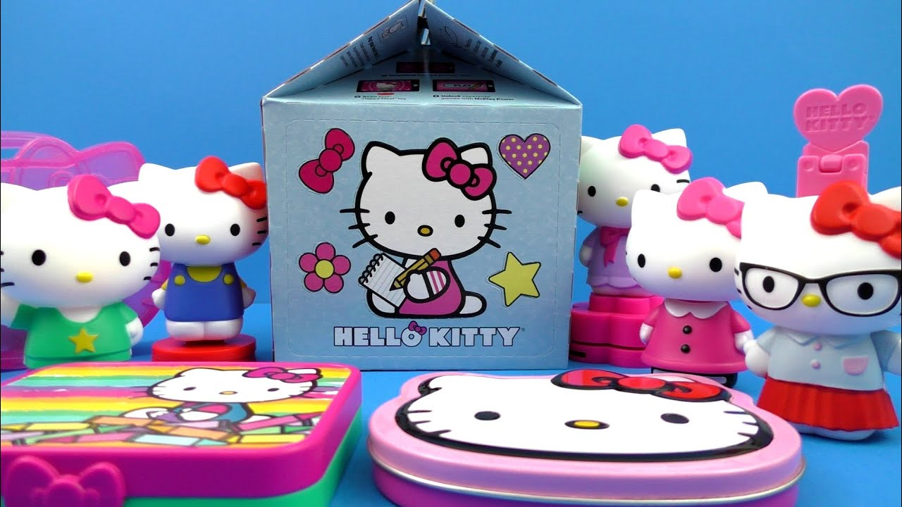 Hello Kitty Toys Set : Hello kitty happy meal box mcdonald s