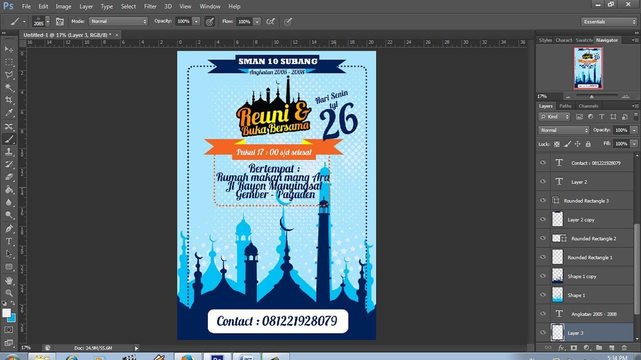 Desain Brosur Sederhana Acara Buka Bersama Di Bulan Ramadhan Youtube