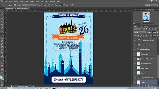 desain brosur sederhana acara buka bersama di bulan ramadhan