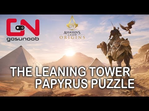 Assassin's Creed Origins The Leaning Tower Papyrus Puzzle How to