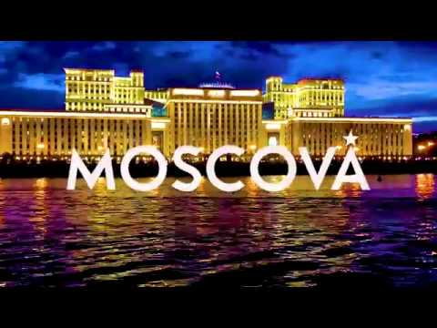 Moscow Timelapse : Moscova river and Ministry of Defense from Gorki Park