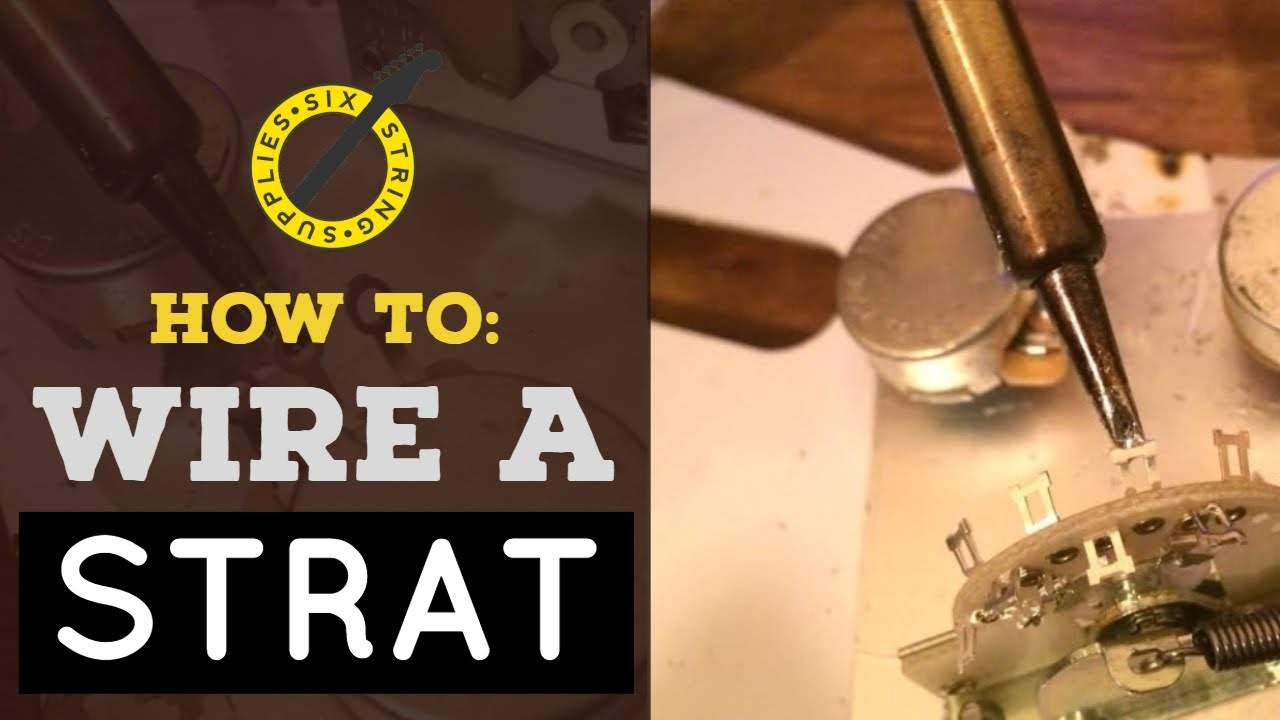How To Wire A Stratocaster - Grounding  Pickups And 5 Way Switch