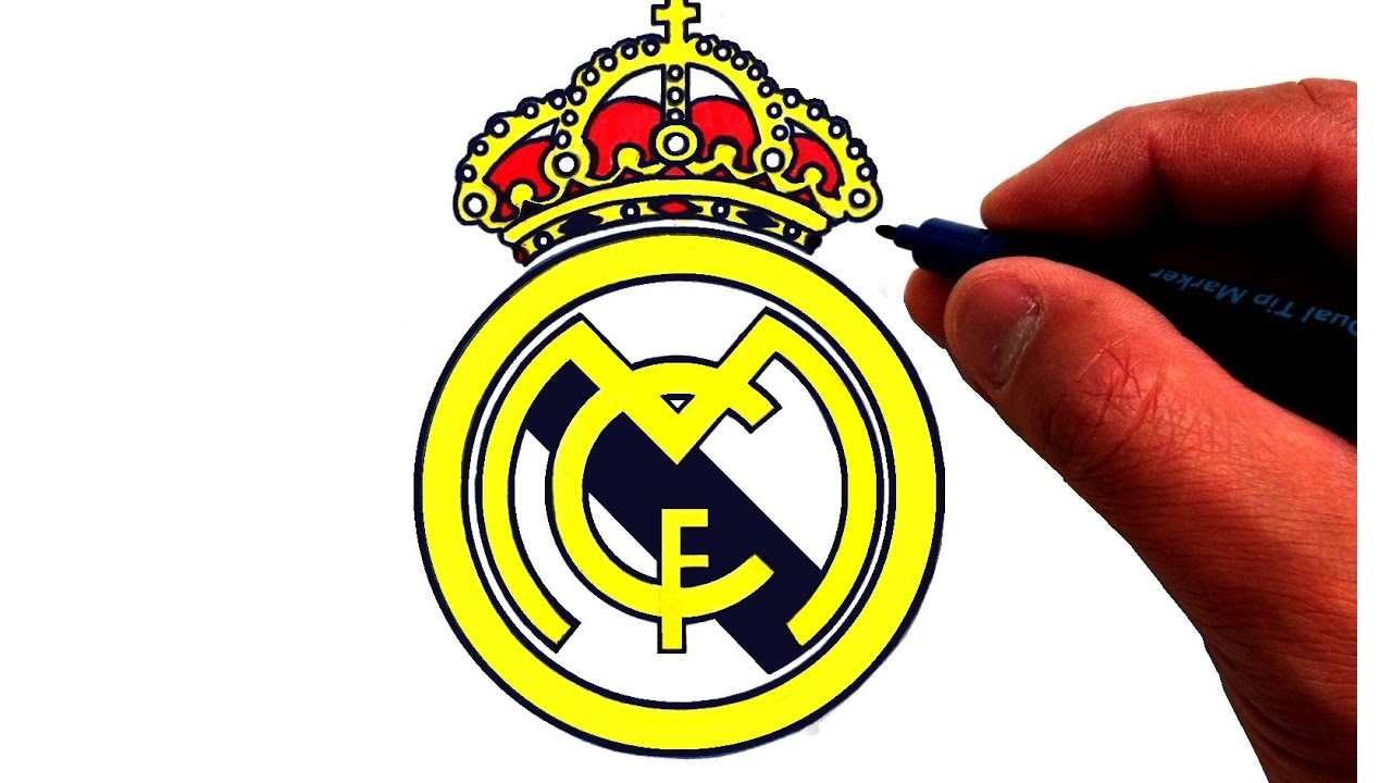 How to draw the real madrid cf logo youtube how to draw the real madrid cf logo voltagebd Images