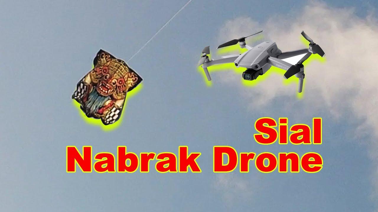Tes terbang layangan celepuk nabrak drone  | Rareangon Bali