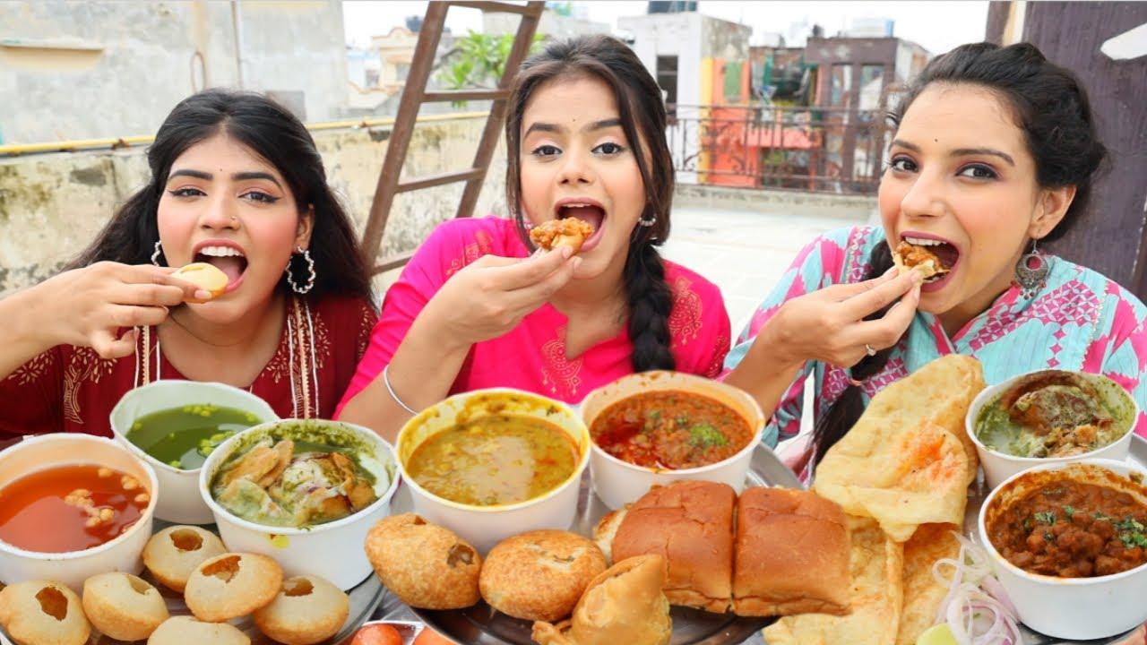 Indian Street Food Challenge | Golgappa ( Pani Puri ), Chole Bhature, Pav Bhaji | Food Challenge