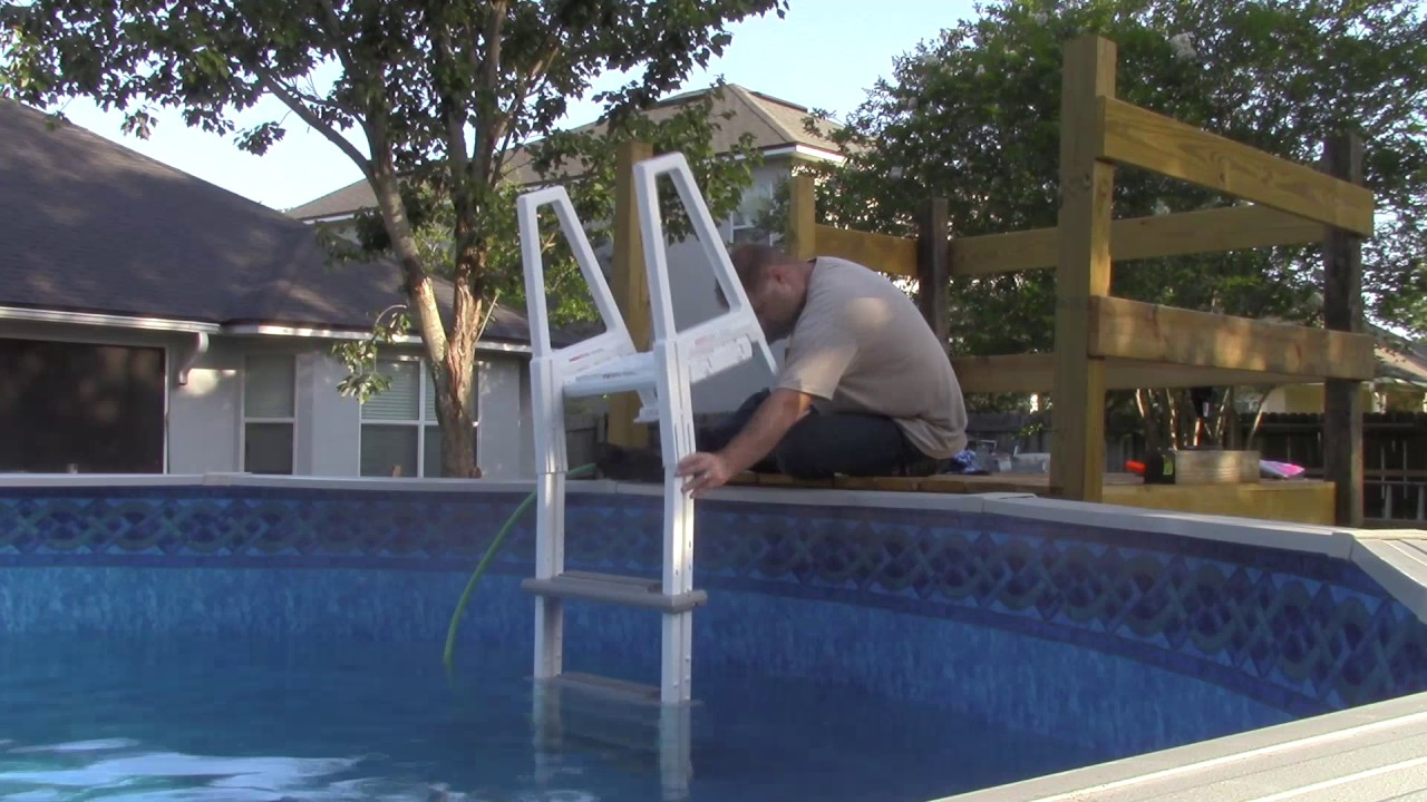 How to put together an above ground pool ladder - YouTube