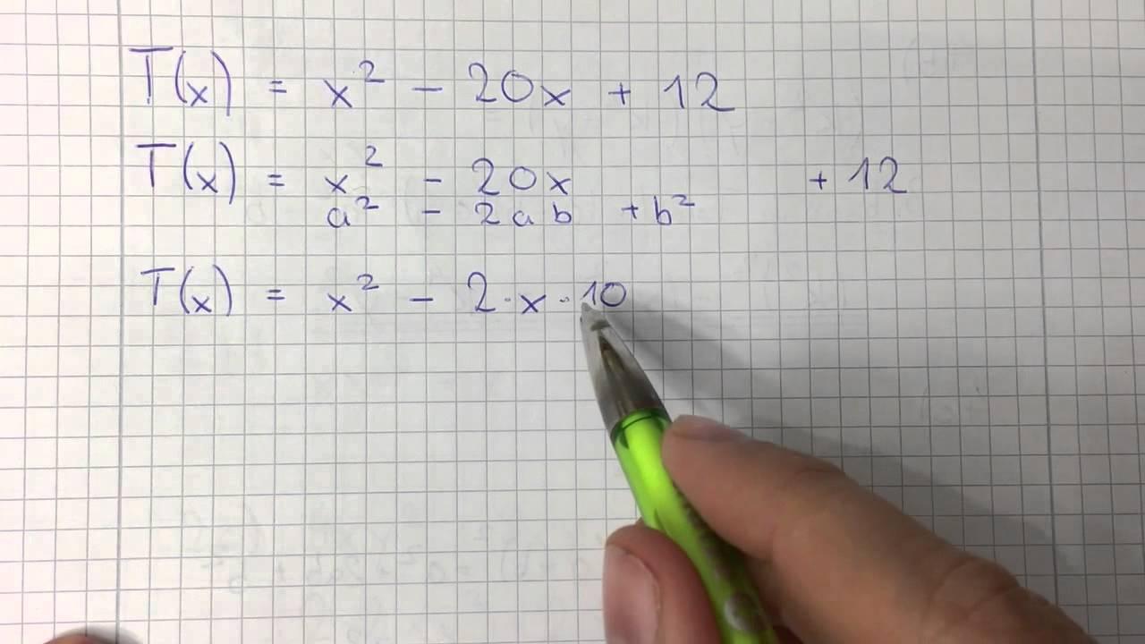 Quadratische Ergänzung 8 Klasse Realschule Bayern - YouTube