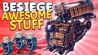 Besiege Awesome Stuff - Spinning Garbage Truck Of Death
