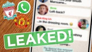 Liverpool v MANCHESTER UNITED: Red Devils Group Chat Revealed