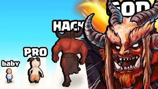 EVOLVING a BABY HUMAN to MAX LEVEL GOAT DEMON in Monster Evolution Run