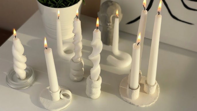 3 DIY candlestick or tapered candle holders 🕯️ (West Elm & designer  inspired) - YouTube