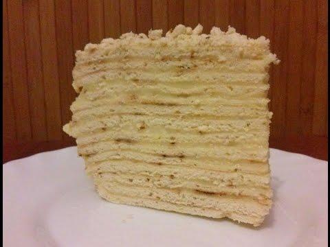 Торт из коржей на сковороде рецепт с фото