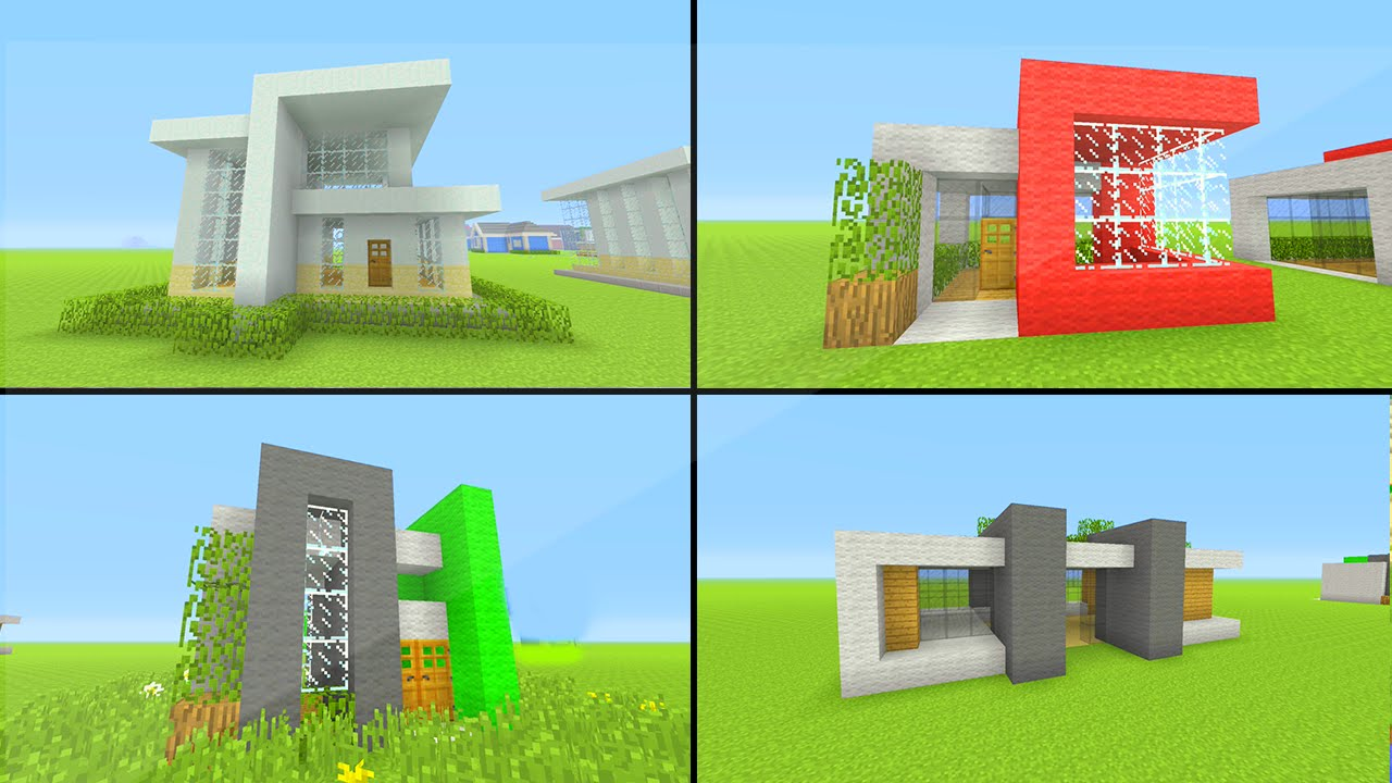 Minecraft xbox 360 ps3 tu42 easy modern house tutorials for Tuto maison moderne minecraft xbox 360