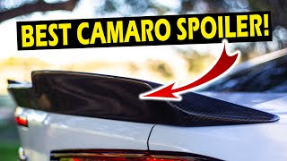 2016-2020 Camaro Notched Spoiler Install & Review | Anvil Auto