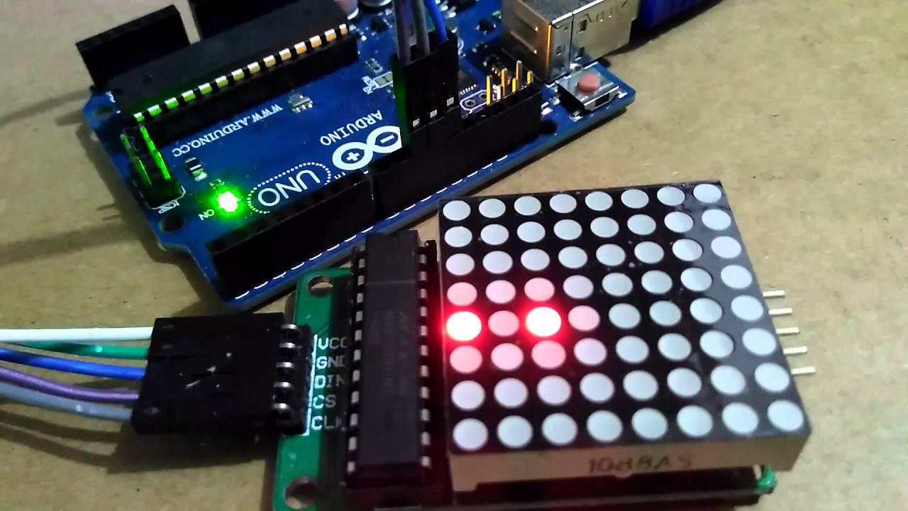 Arduino uno max led matrix via spi using