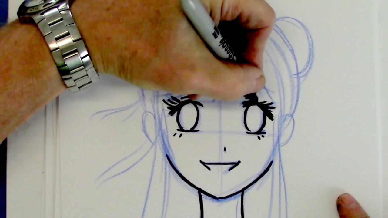 Anime Drawing Tutorial Easy Girl - Jameslemingthon Blog