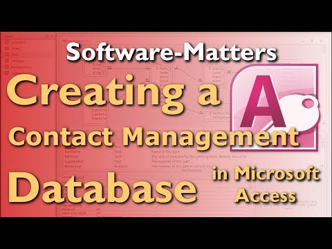 How to Create a Contact Management (CRM) Database in MS Access - Full Tutorial with Free Download