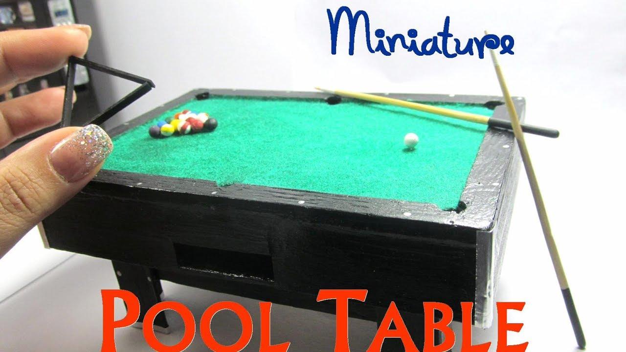 Pool Table Wood Dollhouse Miniature Furniture Youtube