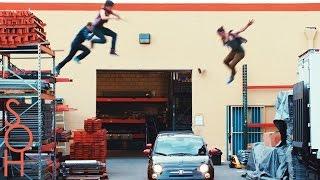 Parkour & Freerunning Stunts on Moving Cars! - Midnight Mayhem #Parkour Drive