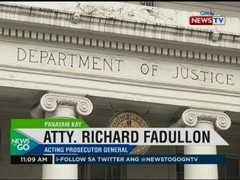 NTG: Panayam kay Atty. Richard Fadullon, acting prosecutor general