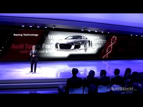 Audi press conference from the 2015 Geneva Motor Show