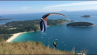 Asymmetric collapse & crazy beach landing. Phuket 2018