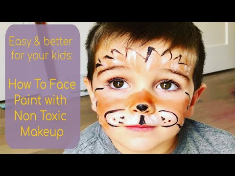 Easy Lion Face Paint Tutorial with Safe, Green Makeup