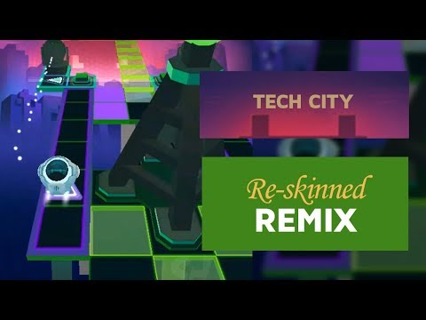 Rolling Sky - Tech City (Re-Skinned version) ft. Remix | SHA