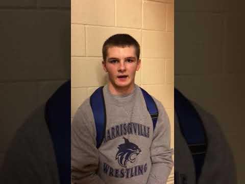 Harrisonville Middle School wrestlers, Joshua Pesek.