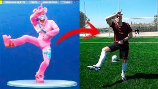 FORTNITE BAILES PLAYING FUTBOL IN REAL LIFE [Ninchiboy]
