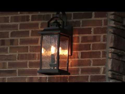 Linford 1 Light Wall Light in Olde Bronze