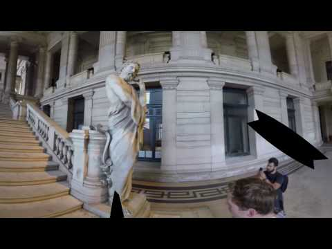 Palace of Justice and Grote Markt in Brussels, Belgium - 360 Video - Vicarious Video
