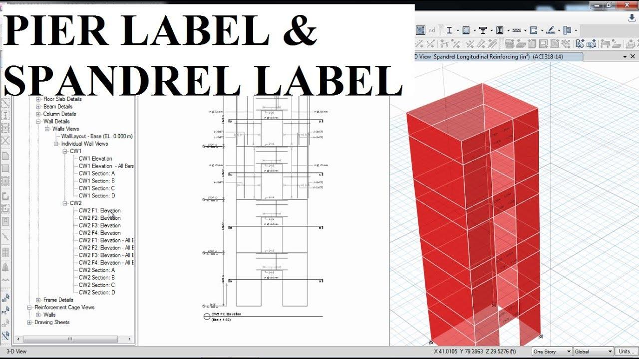 Csi Etabs 03 Pier Labels And Spandrel Labels Part B Part 11 Youtube