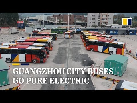 Guangzhou replaces public bus fleet with pure-electric vehicles