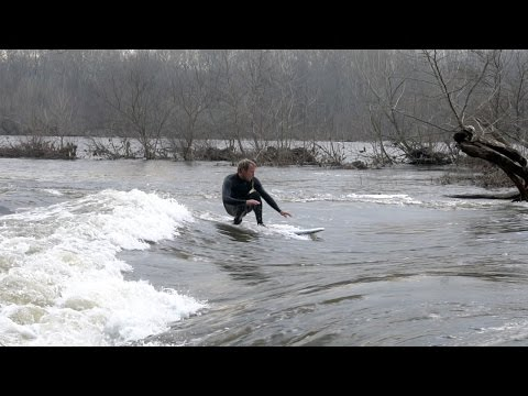 LOW RAIN WATER RIVER SURFING