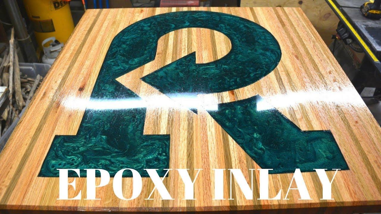 Epoxy Inlay Pedestal Table build - YouTube