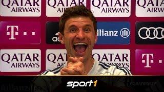 Schelm Müller in Bestform: So lief das Singen beim Teamabend | SPORT1