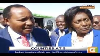 Power Breakfast:Ngilu and Waititu unite at Devolution conference in Kakamega