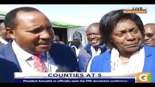 Power Breakfast:Ngilu and Waititu unite at Devolution conference in Kakamega
