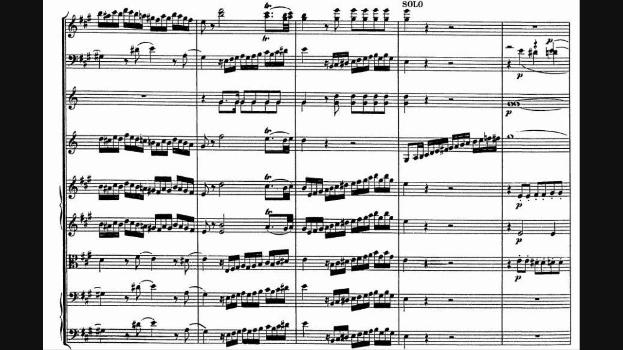 Wolfgang Amadeus Mozart Clarinet Concerto In A Major K 622