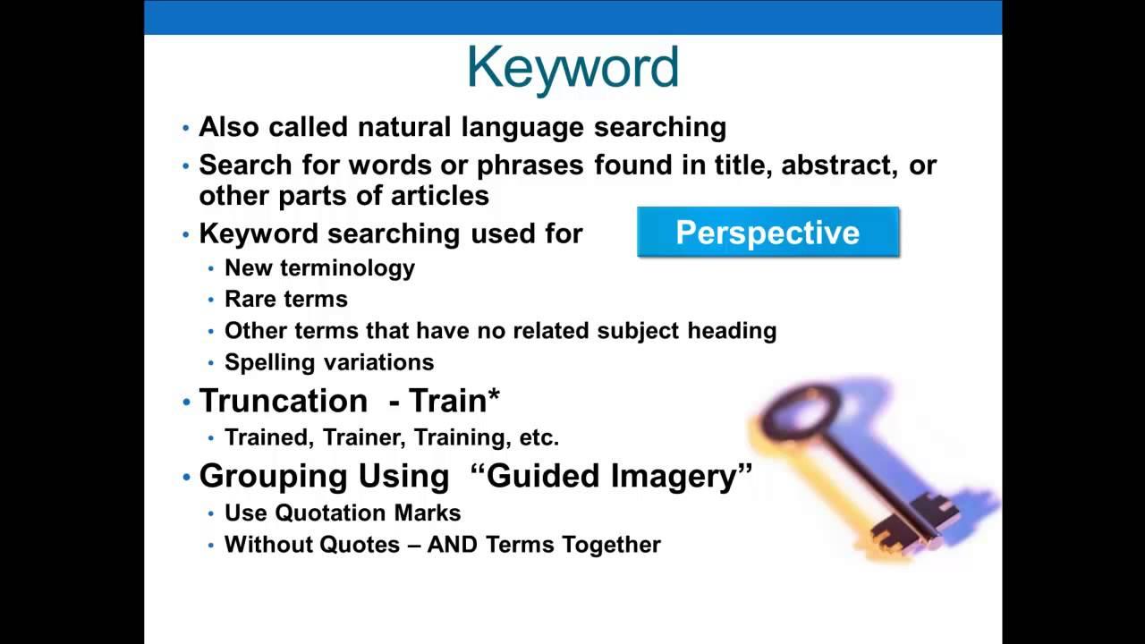 Keyword Searching - YouTube