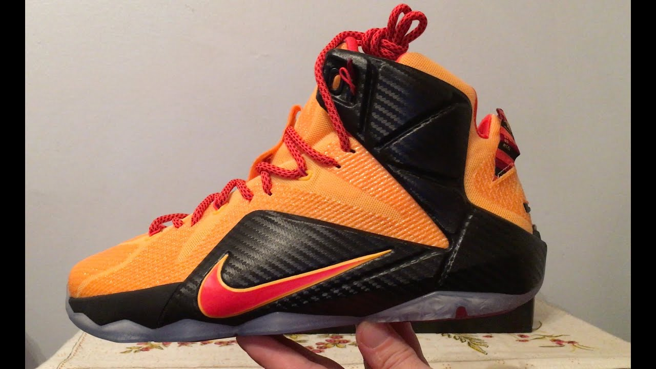 the best attitude 665bc 84345 Nike Lebron 12 Witness Cleveland Cavs Sneaker