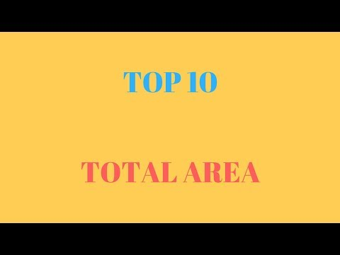 Top 10 countries by total area