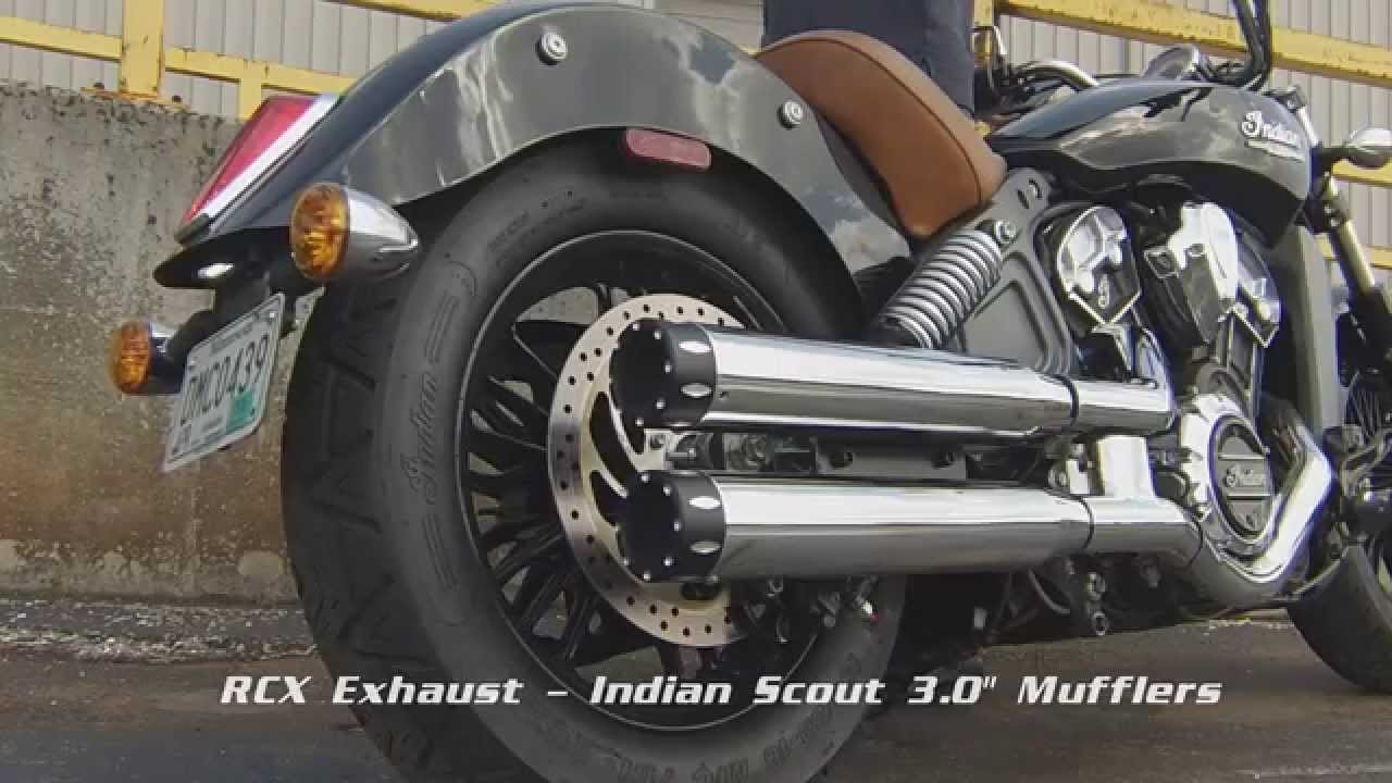 Rcx Exhaust Indian Scout 3 0 Mufflers Youtube