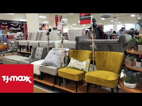 TJ MAXX SPRING FURNITURE CHAIRS TABLES HOME DECOR SHOP WITH ME SHOPPING STORE WALK THROUGH 4K