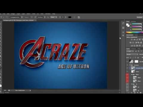 HOW TO MAKE AVENGERS FONT EASILY WITH TEMPLATE 2 IN YOUTUBE - YouTube